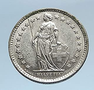 1960 CH 1960 SWITZERLAND SILVER 1/2 Francs Coin HELVETIA coin Good Uncertified