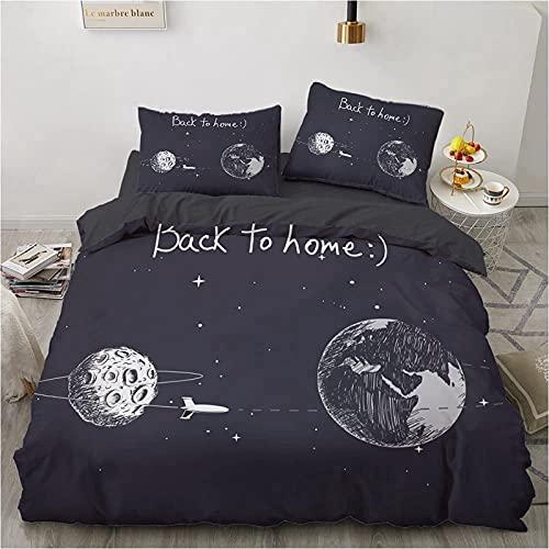 CXYXHW - Funda nórdica de 3 piezas, conjunto de ropa de cama estampada Astronauta Spatial, para niños adultos y niños, impresión digital 3D de microfibra, con fundas de almohada (200 x 200 cm)