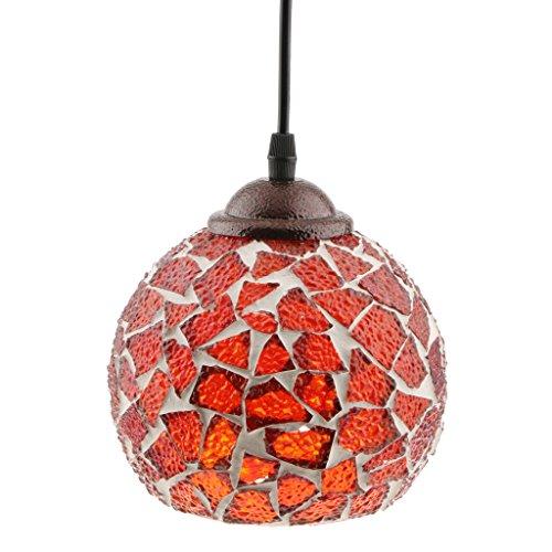 LOVIVER Estilo Multicolor De Mosaico Marroquí Turco Lámpara Colgante De Luz Pantalla Hecha A Mano Artesanía # 6