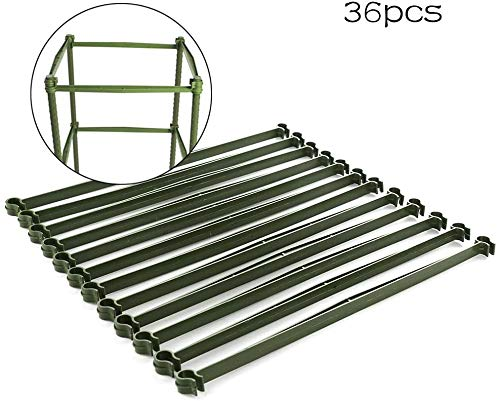 LIDEBLUE 36Pcs Stake Arms for Tomato Cage, 11.8in Adjustable Plant Stake, Expandable Trellis Connectors for Climbing Vegetables Flowers Vine Fruits