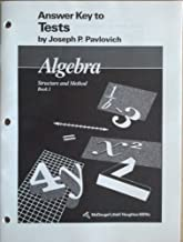 Algebra: Structure and Method, Book 1, Answer Key to Tests
