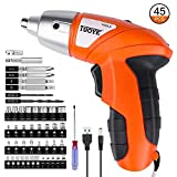 Cordless Screwdriver, Gvoo 4.8V Rechargeable Lithium Battery Electric Screwdriver Set Household Tools