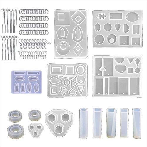 Collar de resina epoxi de cristal hecho a mano con colgante de molde de silicona de fundición de molde de epoxi para hacer joyas de bricolaje