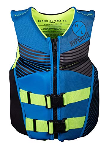 Hyperlite Indy Jr. CGA Kids Wakeboard Vest Blue/Fluoro Junior (75-124Lbs)