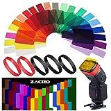 Zacro Flash Della Fotocamera in gel Trasparente colore correzione Balance illuminazione ki...