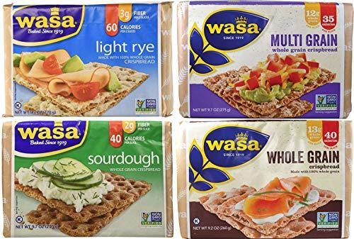 Wasa Crispbread Variety 4-Pack: Multi Grain, Whole Grain, Rye Lite & Sourdough