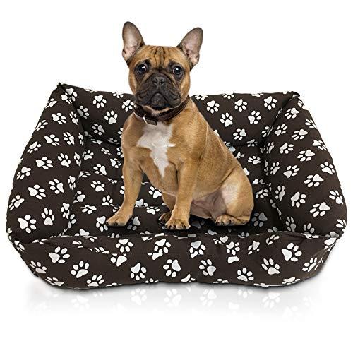 Caseta para perro o gato, interior y exterior, de suave algodón, apta para diferentes tamaños de perros y gatos, impermeable y antideslizante, color marrón, talla XL