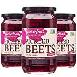 Pickerfresh Pickled Beets | Crinkle Cut Sliced Beetroot | Simple Natural Ingredients | Non-GMO, No Artificial Color & No Preservatives | 16 fl oz (3 Pack)