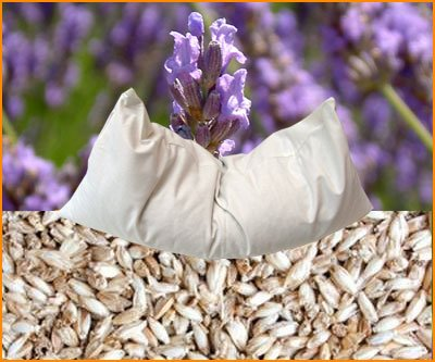 Bio Dinkel-Lavendel Kissen 40 x 80 cm weiß