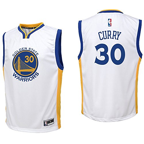 Outerstuff Stephen Curry Golden State Warriors #30 Youth Home Replica Jersey Large 14/16
