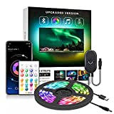 【2021 Upgraded】Nexillumi LED Strip Lights TV LED BackLight RGB LED Strip USB Powered for 24 Inch-60 Inch TV,Mirror,PC, APP Control Sync to Music, Bias Lighting, 5050 RGB for Android iOS