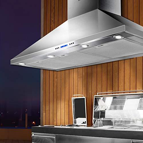 Rangehood BBQ Commercial Range Hood Alfresco Canopy Kitchen Stainless 1200MM
