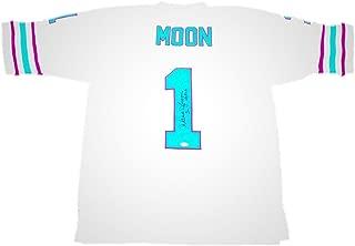 Autographed Warren Moon Jersey - Away 06 Hof - JSA Certified - Autographed NFL Jerseys