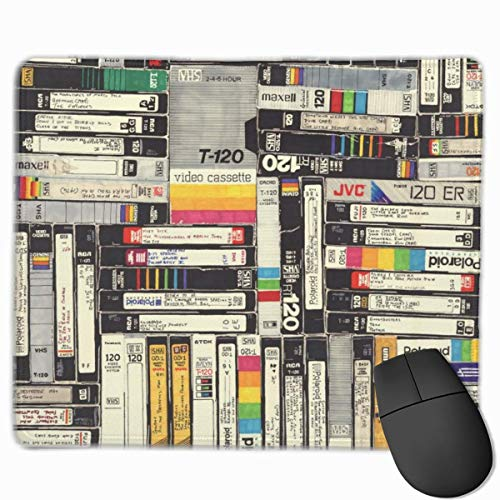 N\A VHS Wai Rectangle Alfombrilla de ratón con Base de Goma Antideslizante Alfombrillas de ratón para Juegos y Oficina para PC y portátiles