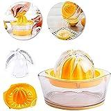 JFS Citrus Lemon Orangenpresse, Multifunktionale-4-In-1-Design PP + 304 Edelstahl Verwendet Material- Als Orangefarbene & Lemon Entsafter/Zitrone Reibe, Eidotter Separators Und...