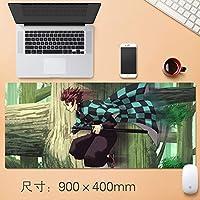 Vampsky アニメ悪魔ブレイドマウスパッド、広々としたデザインパーソナライズホームオフィスマウスマットで縫製エッジラバーベース大型マウスパッドのためにラップトップコンピュータやPCのホームオフィスのアニメファンのギフト (サイズ : Thickness: 3mm)