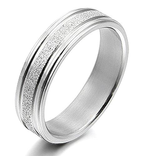 Gemini Damen-Ring Titan , Herren-Ring Titan , Freundschaftsringe , Hochzeitsringe , Eheringe, Farbe: Silber, Breite 6mm Größe 64 (20.4)