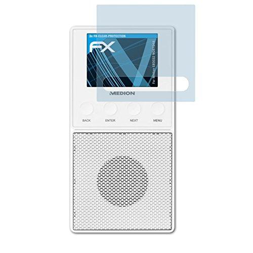 atFoliX Schutzfolie kompatibel mit Medion E85032 MD87248 Folie, ultraklare FX Displayschutzfolie (3X)