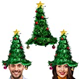 Simply Genius,3 Pack, Christmas Tree Hat Set: Christmas Hat for Party Supplies, Christmas Costumes For Adults and Kids