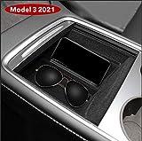 BASENOR Tesla Model 3 2021 Bandeja organizadora de consola central accesorios con soporte para gafas de sol para Tesla Modelo 3 2021