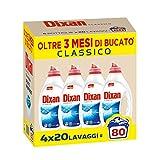 Dixan Classico Detersivo Liquido Lavatrice, Tecnologia Pulito Profondo, 80 Lavaggi...