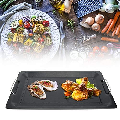 Grillpan, antiaanbakplaat, bakplaat, outdoor, BBQ soepel, keuken, bakvormen, accessoires voor thuis 45 * 30