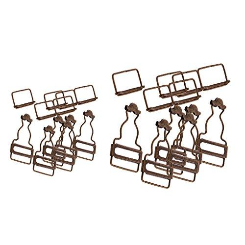 D DOLITY Lot de 12 Dungaree Attaches Clip / Brace Boucles Pour Bretelles