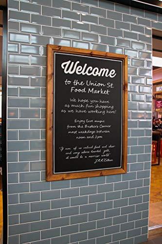 Chalkboards UK Kreidetafel mit Rahmen, Holz, Holz, Schwarz, A1 (93.5 x 69.5 x 5cm)