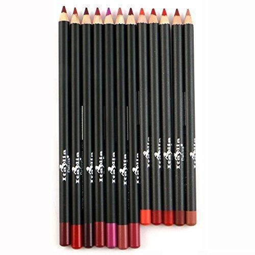 12pc Italia Deluxe Ultra Fine Lip Liner set of 12 color by Italia Deluxe