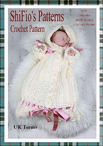 Crochet Pattern - CP41 - Baby Snuggly Sleep-ing Bag - 0-3mths - UK Terminology (English Edition)
