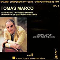 Spanish Composers of Today Vol. 5 Tomas Marco