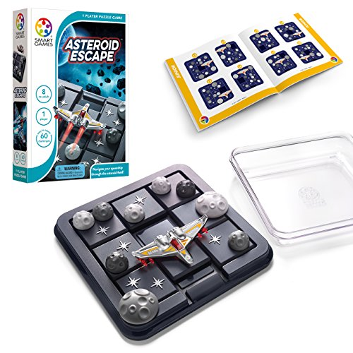 SmartGames Asteroid Escape, a Sliding Puzzle Travel Game for Kids and Adults, a...