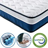 Vesgantti Tight Top Series - 9.5 Inch Innerspring Hybrid Twin XL Mattress/Bed in a Box, Medium Firm Plush Feel - Multi-Layer Memory Foam and Pocket Spring - CertiPUR-US Certified/10 Year Warranty