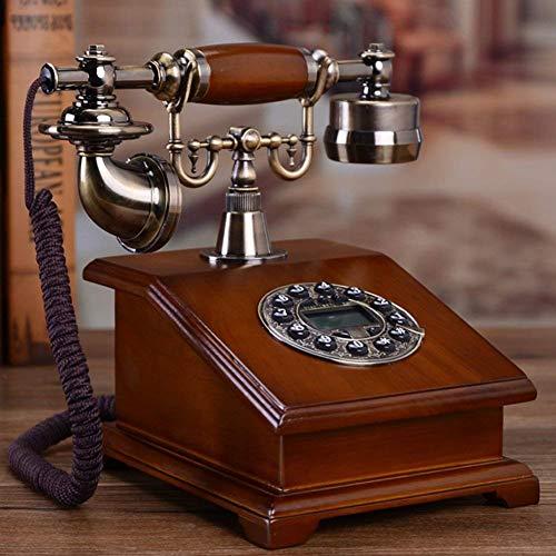 LHQ-HQ Fijo Vintage Creativo Teléfono Casa Fijo Identificador de Llamadas Fijo para Decoración del Hogar-A