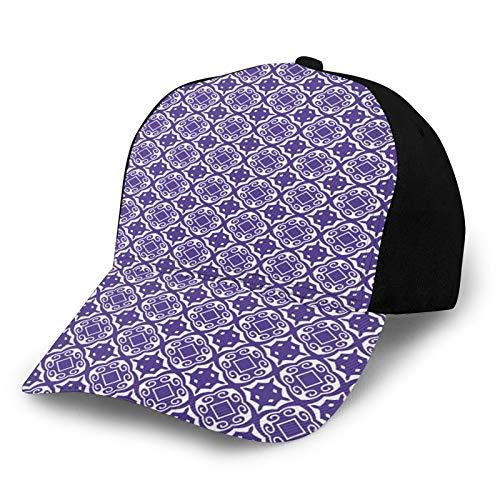 FULIYA Gorra de béisbol estructurada, ilustración artística étnica de motivos geométricos repetir figuras clásicas sombrero de papá para hombres y mujeres, perfil bajo ajustable