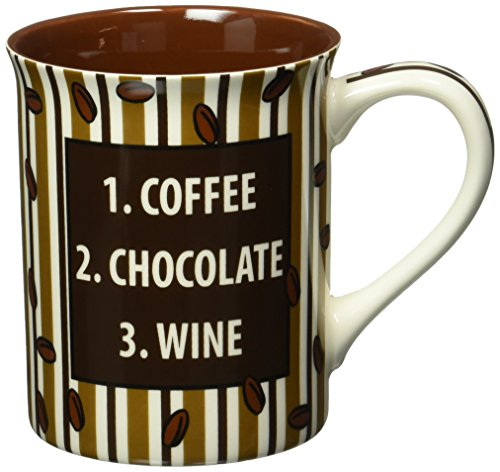 Enesco 4.5-Inch Our Name is Mud Mug by Lorrie Veasey, 16-Ounce, Coffee Chocolate Late