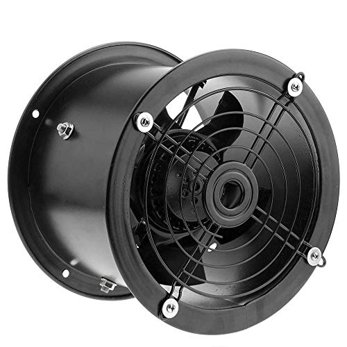 PrimeMatik - Extractor de Aire de Tubo de 200 mm para ventilación Industrial 2550 RPM Redondo 260x260x180 mm