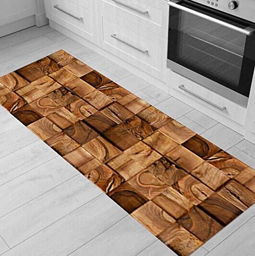 Alfombra de madera Alfombra de cocina Alfombra antideslizante Alfombra de cocina Alfombra de cocina Alfombra de baño para el hogar Alfombra de puerta de pasillo Alfombra para sala de estar A6 40x120cm