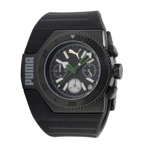 PUMA Men's PU101931003 Turbo Chronograph Black Dial Watch