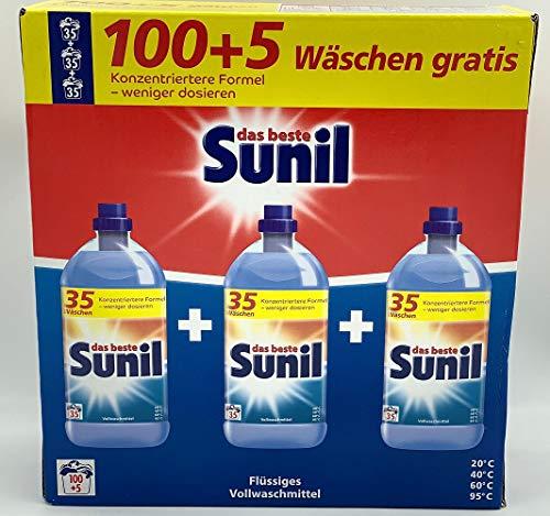 Sunil Vollwaschmittel 105 Wäschen Flüssig