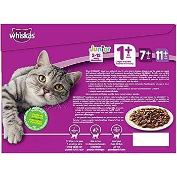 Whiskas Sélection classique en sauce – Nourriture humide pour chat adulte – Alimentation complète en sachets fraîcheur – 4 x 12 x 100g