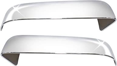NewYall Pack of 2 Front Left Driver & Right Passenger Side Chrome Top Cap Mirror Cover