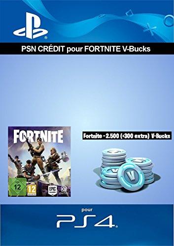 Crédit PSN pour Fortnite - 2.500 V-Bucks + 300 extra V-Bucks - 2.800 V-Bucks DLC | Code Jeu PS4 - Compte français