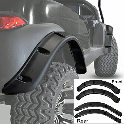 Club Car Precedent Golf Cart Fender Flares Front Rear (4 PCS) W/Self Taping Screws Easy Installation