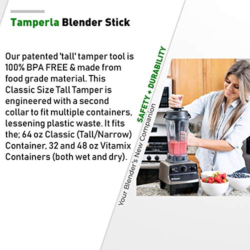 Vitamix Tamper Tool for Vitamix Classic 64-Once Containers | Best Blender Accessories | Accelerator fits Vitamix Blenders