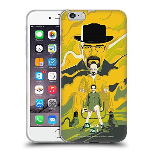 Head Case Designs Licenciado Oficialmente Breaking Bad Heisenberg Arte Vectorial 10º Aniversario Carcasa de Gel de Silicona Compatible con Apple iPhone 6 Plus/iPhone 6s Plus