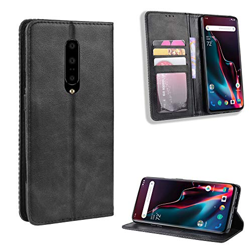 LSBQQ Oneplus Case PU Flip Leather Cover with Cash Card Slots Stand Function and Magnetic Closure Wallet Case for Oneplus,2 Farben,Schwarz,OnePlus 3/ 3T
