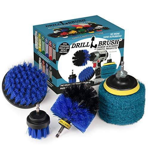 Drillbrush - Drill Brush Power Scrubber - Shower Scrub Brush - Cordless Tile Cleaner - Scrubber Cleaning Kit - Scrub Driver - Bathroom Cleaner Pads - Porcelain Sink Cleaner - Bathtub Stain Cleaner
