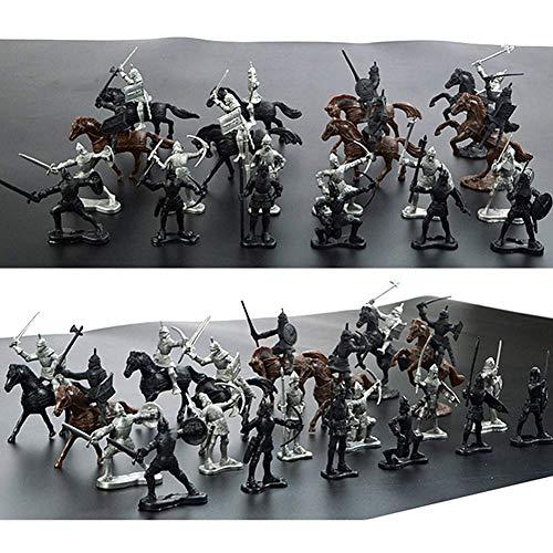 28pcs / Menge Mittelalterlich Ritter Spielzeug Spielset Soldaten Figuren Soldaten Modell Ritter Pferde Krieger Mini Modell Kinder Spielzeug Geschenke Bildungs Ritter Spielzeug Set