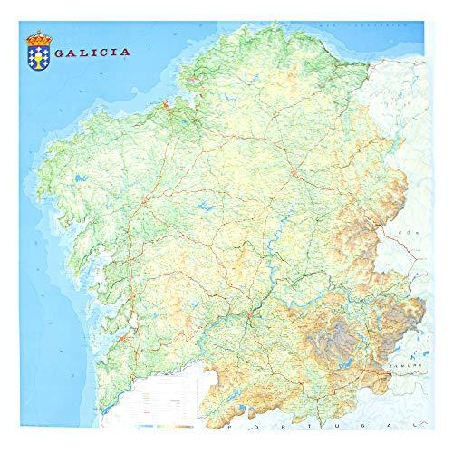 Mapa en relieve de Galicia: Escala 1:250.000